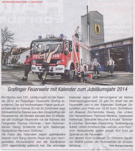Hallo Ebersberg (Ausgabe vom 11. Dezember 2013) zum Feuerwehrkalender 2014