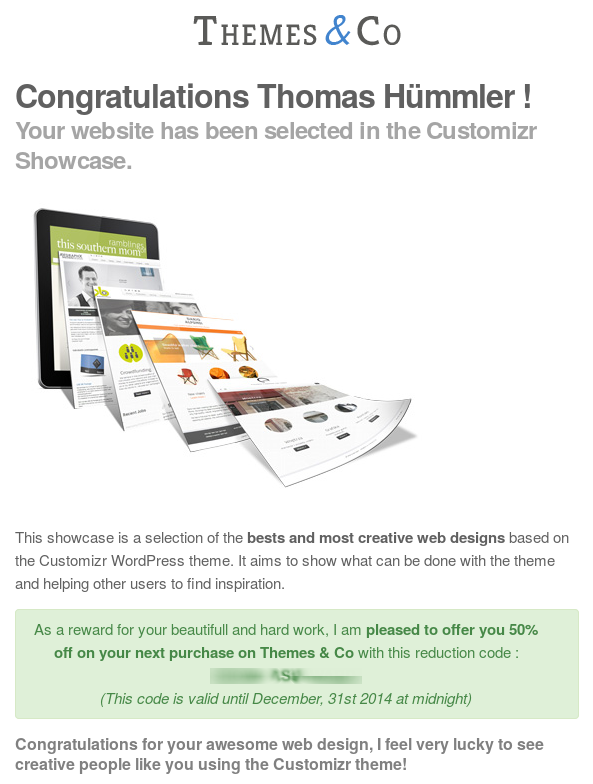 Themes & Co Award