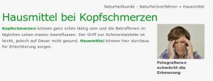 Besorgniserregende Bildunterschrift auf www.heilpraxisnet.de