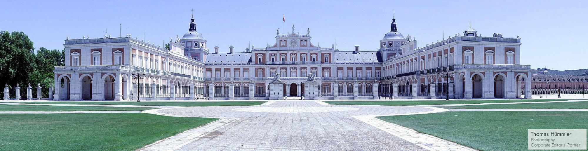 Panoramaaufnahme des königlichen Sommerpalasts in Aranjuez - (c)2012 Thomas Hümmler - München - Grafing