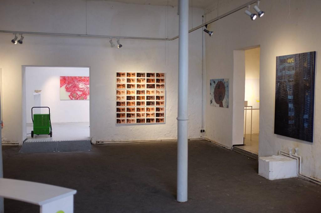Bei der Jahresausstellung in Ebersberg übereinander, als Hingucker im Eingangsbereich der Ausstellung