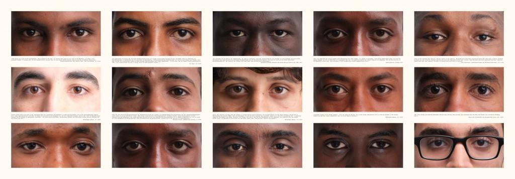 """""""Verlorene Jugend auf der Suche nach Zukunft"""", Teil 1 von 3, Fotografie auf Leinwand (150 cm x 50 cm), (c)2015 by Thomas Hümmler"""