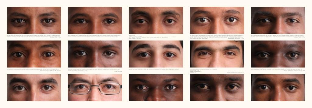 """""""Verlorene Jugend auf der Suche nach Zukunft"""", Teil 3 von 3, Fotografie auf Leinwand (150 cm x 50 cm), (c)2015 by Thomas Hümmler"""