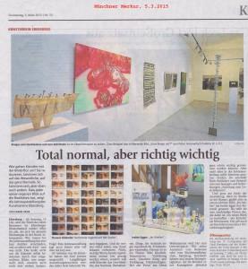 Der Münchner Merkur (Ausgabe vom 5. März 2015) berichtet über die Jahresausstellung des Kunstvereins Ebersberg