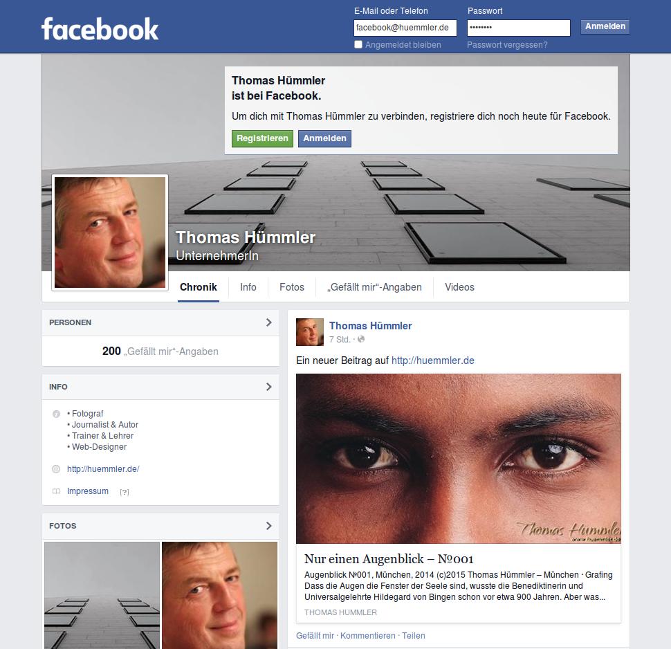 Meine neue Facebook-Seite