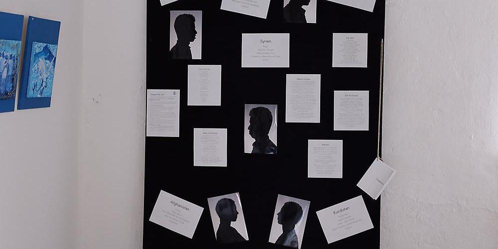 Mein Beitrag zur Mitgliederausstellung des Kunstvereins Ebersberg: eine Collage aus dem Gegenlicht-Projekt